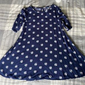 Old Navy blue with flower dress